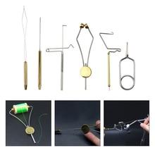 6 sztuk/zestaw muchowe zestaw narzędzi szpulka nici szpulki uchwyt obrotowy bat finiszer do fly Sprzęt wędkarski combo