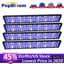 4PCS PopBloom מנורת led אקווריום ספקטרום מלא Led אקווריום אור שונית האקווריום עם חכם dimmable בקר Turing75