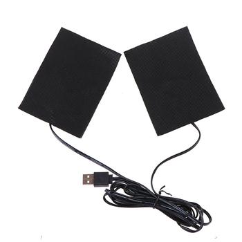 1 zestaw USB ciepłe pasty klocki szybkie ogrzewanie z włókna węglowego ogrzewanie Pad bezpieczne ogrzewanie cieplej Pad dla tkaniny kamizelka kurtka buty skarpetki tanie i dobre opinie CN (pochodzenie)