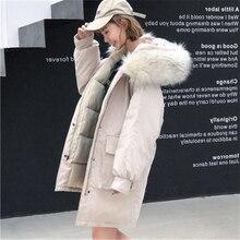 Female Winter Parkes Coat Warm Thicken Two Large Pockets Women Coats Fashion Cotton Jacket Oversized Fur