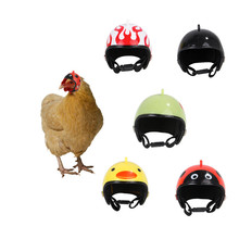 2019 Fashion Funny Chicken Helmet Cute Cartoon Small Pet Bird Protection Head Safety Hat Decoration