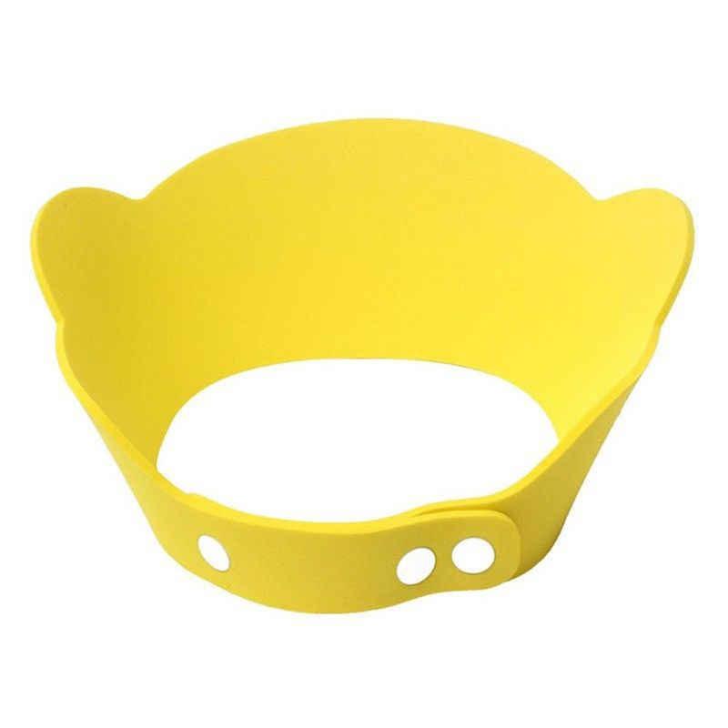Mais novo bebê quente crianças casa útil bou menina dos desenhos animados shampoo banho touca de banho chapéu lavagem cabelo escudo macio