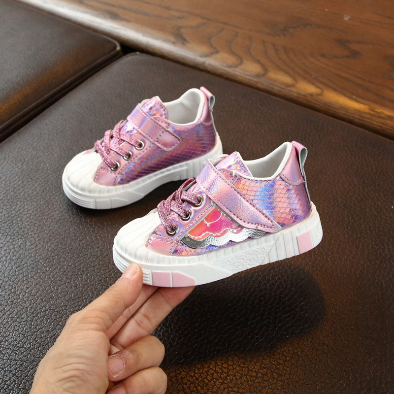 Wings Pattern Infant Prewalker Shoes Kids Shoes Autumn Baby Girls Anti-Slip First Walkers Child Soft Soled Sneakers