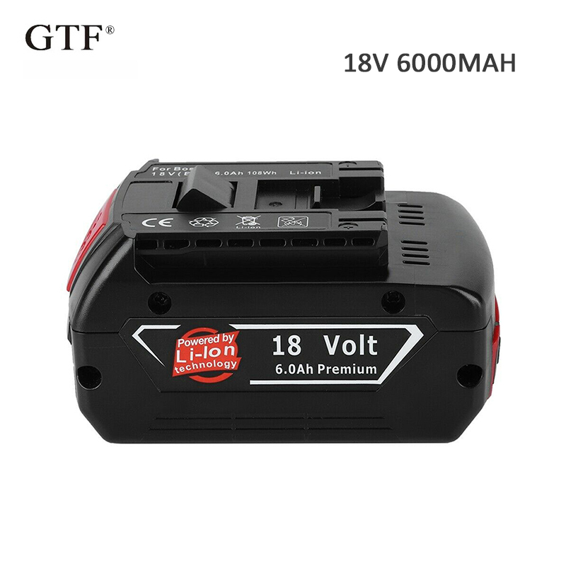 For <font><b>Bosch</b></font> <font><b>18V</b></font> 6000mAh Rechargeable Lithium <font><b>Batteries</b></font> Power Tools <font><b>Battery</b></font> Pack Cordless Drill BAT609 BAT618 3601H61S10 JSH180 image