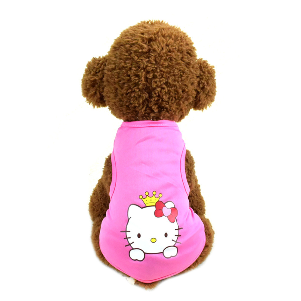 Pet Cat Clothes for Cats Summer Vest T Shirt Dog Cat Clothes Costume for Small Dogs Cartoon Vest for Puppy 35 (13)