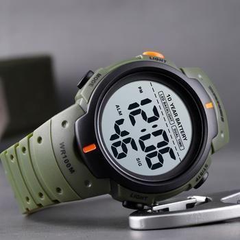 SKMEI Outdoor Sport Watch 100M Waterproof Digital Men Fashion Led Light Stopwatch Wrist Men's Clock Reloj Hombre - discount item  45% OFF Men's Watches
