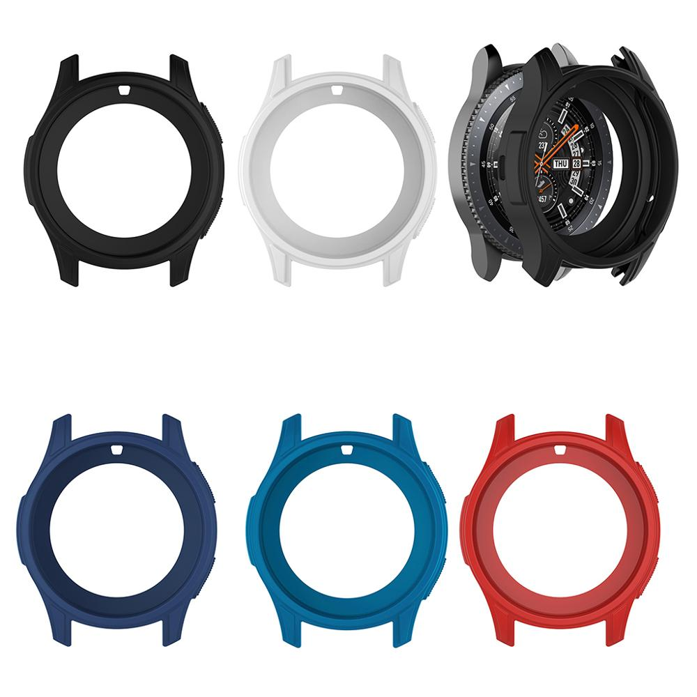 Silicone Soft Shell Watch Cases Protective Frame Case Cover <font><b>Skin</b></font> For <font><b>Samsung</b></font> Galaxy Watch 46mm Gear <font><b>S3</b></font> <font><b>Frontier</b></font> image