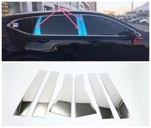 Janela de aço inoxidável guarnições pilares centro cobre para honda crv CR-V acessórios 2012/13/14/15/16/17