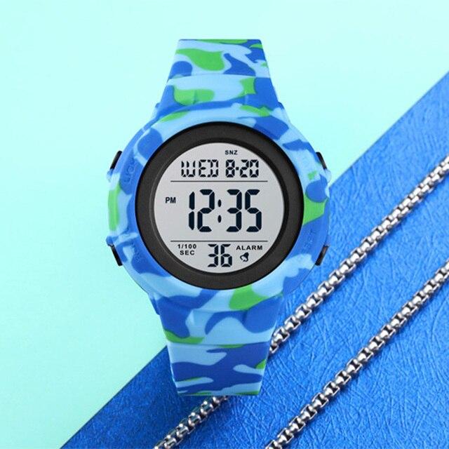Skmei duplo tempo relógios esportivos digitais dos homens 5bar à prova dshockproof água à prova de choque relógios de pulso de hora moda casual reloj hombre 1615 2