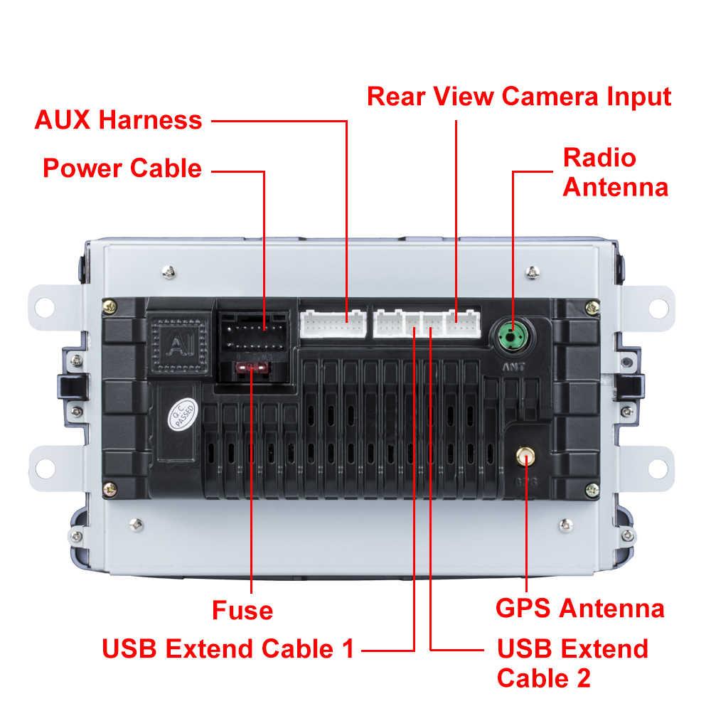 Essgoo 2din カーラジオ 8 ''アンドロイド 8 カーマルチメディアプレーヤー gps wifi のミラーリンクルノーサンデロ duste logan dokker autoradio