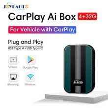 Новое обновление 4 + 32g joyeauto carplay ai box accpet youtube/netflix/mirror