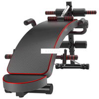 Multifunction Sit-up Bench With Headrest Pulling Rope Exerciser Trainer Steel Frame Ab Abdominal Fitness Bench Indoor Equipment