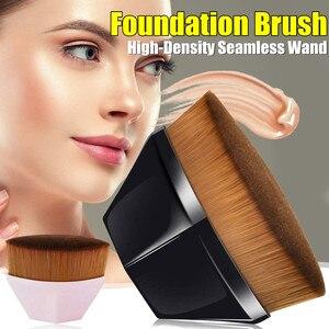 Высокая плотность, бесшовная основа, Кисть для макияжа, плоский верх, румяна, пудра, тональная кисть для крема или безупречной пудры, космети...