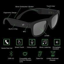 Новые технологии портативный Bluetooth Смарт солнцезащитные очки Bluetooth костной проводимости беспроводной гарнитура микрофон очки