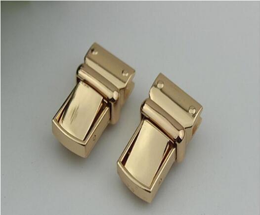 (10 Pcs/lot) Golden High-grade Leather Die-casting Decoration Mortise Lock Handbags Hardware Accessories