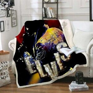 Image 4 - אלביס שתוקנה עיצוב שמיכת קטיפה 3d מודפס למבוגרים ספה שרפה צמר כיסוי מיטה לעטוף לזרוק שמיכת מיקרופייבר 11