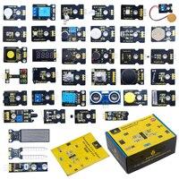 Keyestudio 37 in 1 Sensor Kit Upgrade V 3,0 + Geschenk Box für Arduino Starter Kit W/37 Projekte/STEM Kinder Programmierung + CE Konform