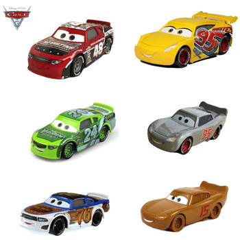 Cars Disney Pixar Cars 3 Lightning McQueen Mater Jackson Storm Ramirez 1:55 Diecast Vehicle Metal Alloy Toy For Children's Gifts