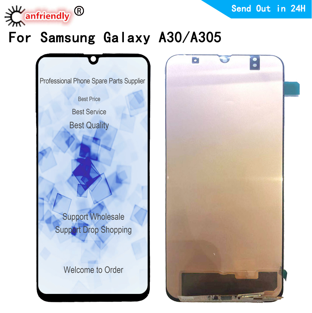 <font><b>LCD</b></font> Display For <font><b>Samsung</b></font> <font><b>Galaxy</b></font> <font><b>A30</b></font> A305 SM-A305F/DS A305FN A305G A305GN A305YN <font><b>LCD</b></font> display Screen Touch panel Digitizer Assembly image