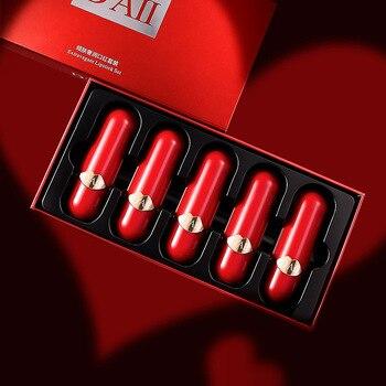 luxury  lipstick set lip gloss moisturizing Nutritious Easy to Wear Long-lasting  matte lipstick  red  lip stick  makeup
