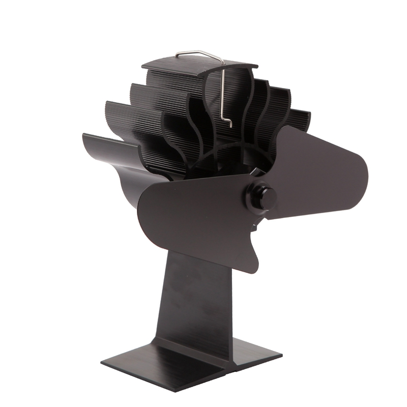 2 Blade Household Heat Powered Stove Fan Log Wood Burner Eco Friendly Quiet Home Fireplace Fan Heat Distribution Fuel Saving