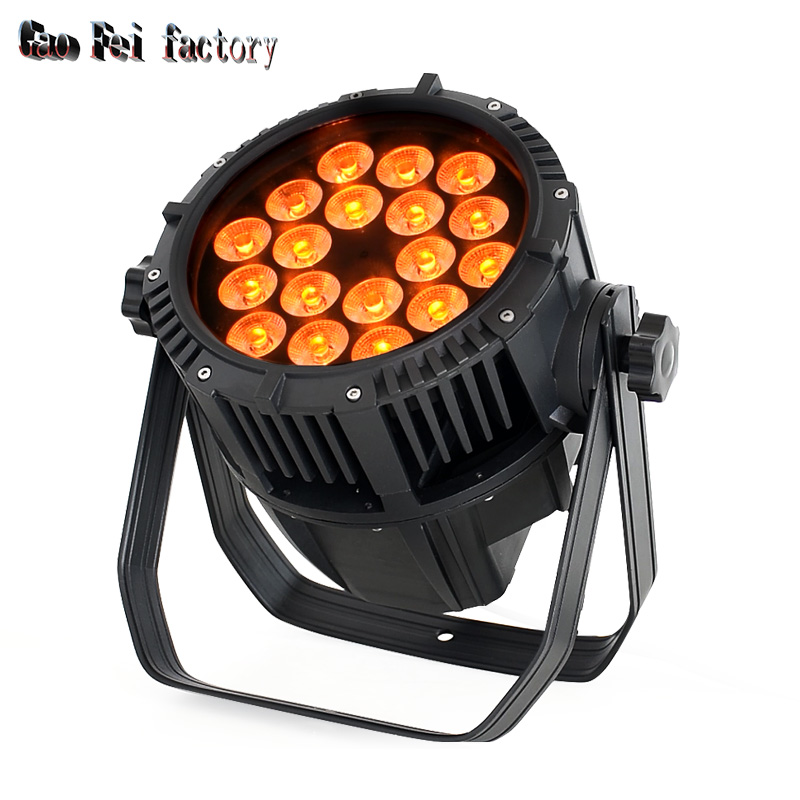 LED Par RGBWA 18pcs 15-watt 5-in-1 Leds Quad Waterproof IP65 High Quality Outdoor Par Can DMX Lighting For Wash DJ Party Light