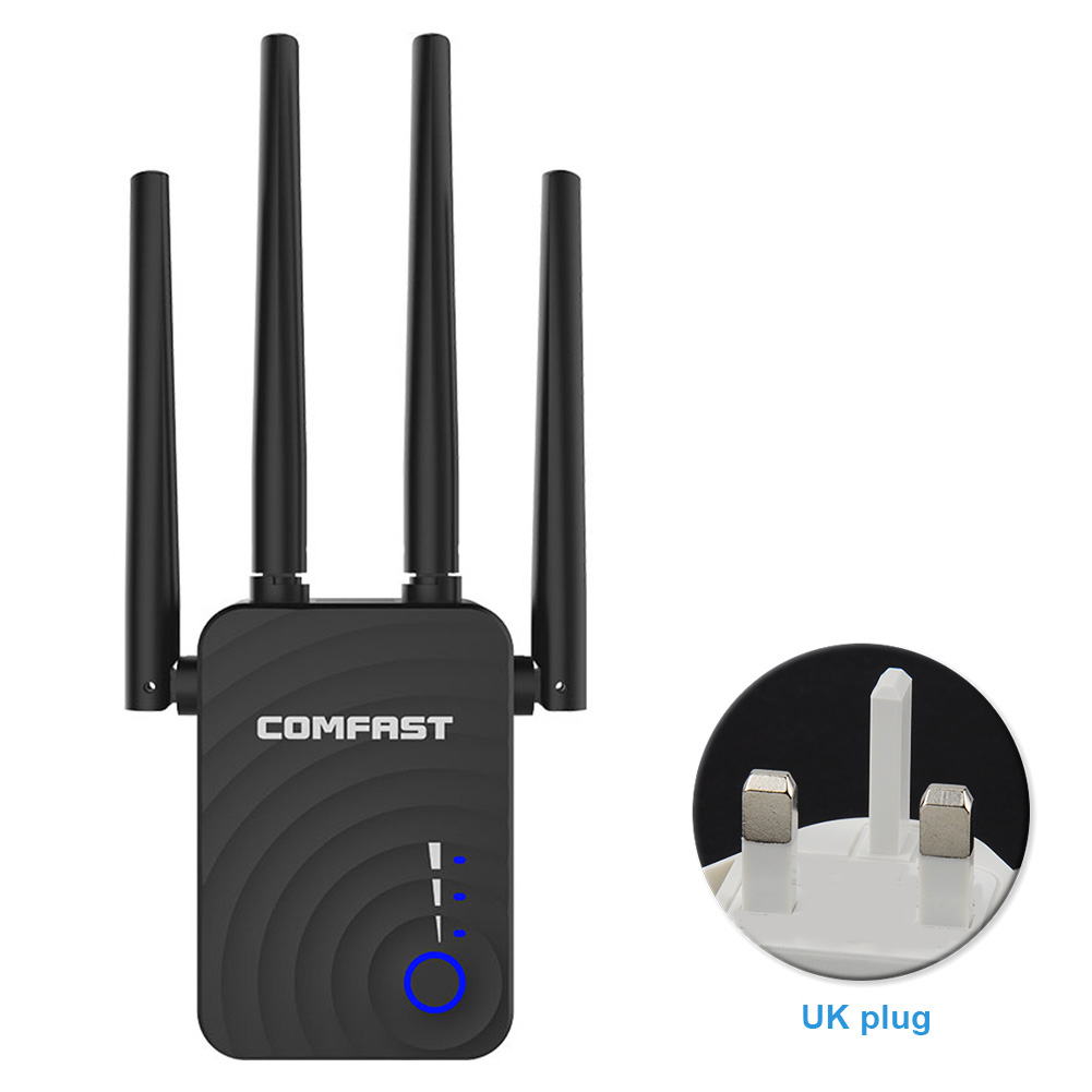 WR754AC Office Home 1200M Network Wireless Repeater Dual Band Signal Booster Internet WIFI Range Extender Stable Amplifier