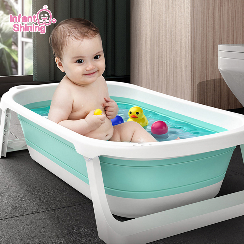 Infant Shining Folding Bath Tub Infants Bathtub 0-6 Years Large Size Newborn Baby Products Babe Bath Seat Bathtub for Kids title=