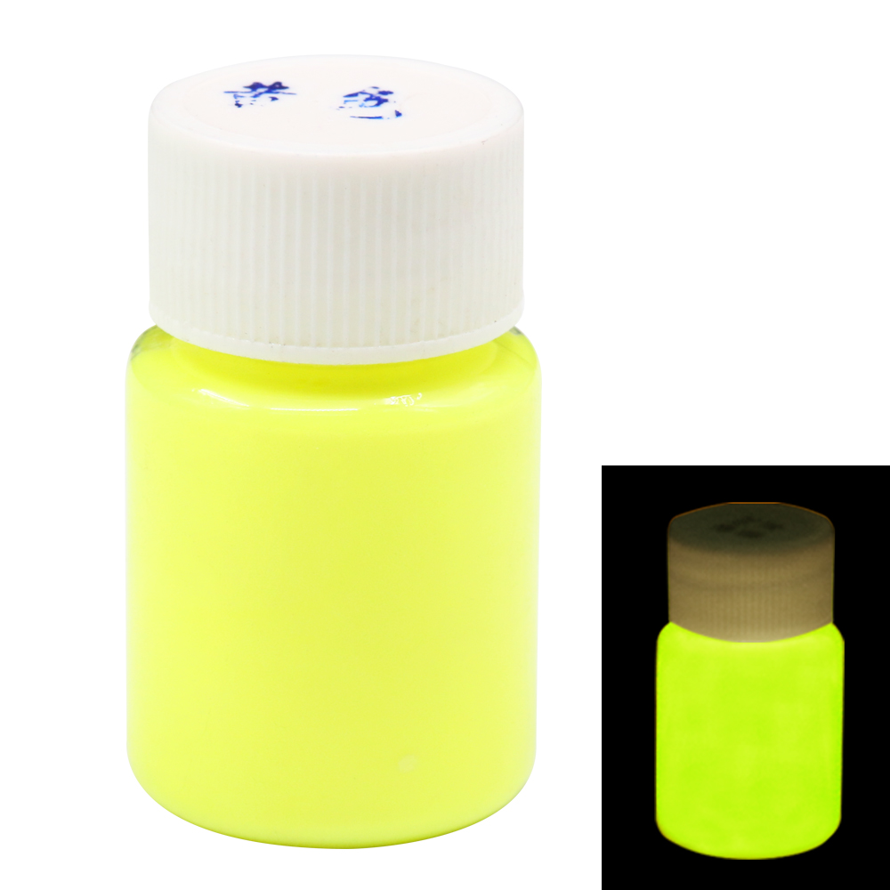 Glow In The Dark Paint Fluorescent Paint For Party Nail Decorations Art Supplies 20g Yellow Phosphor Pigment Luminous Paint