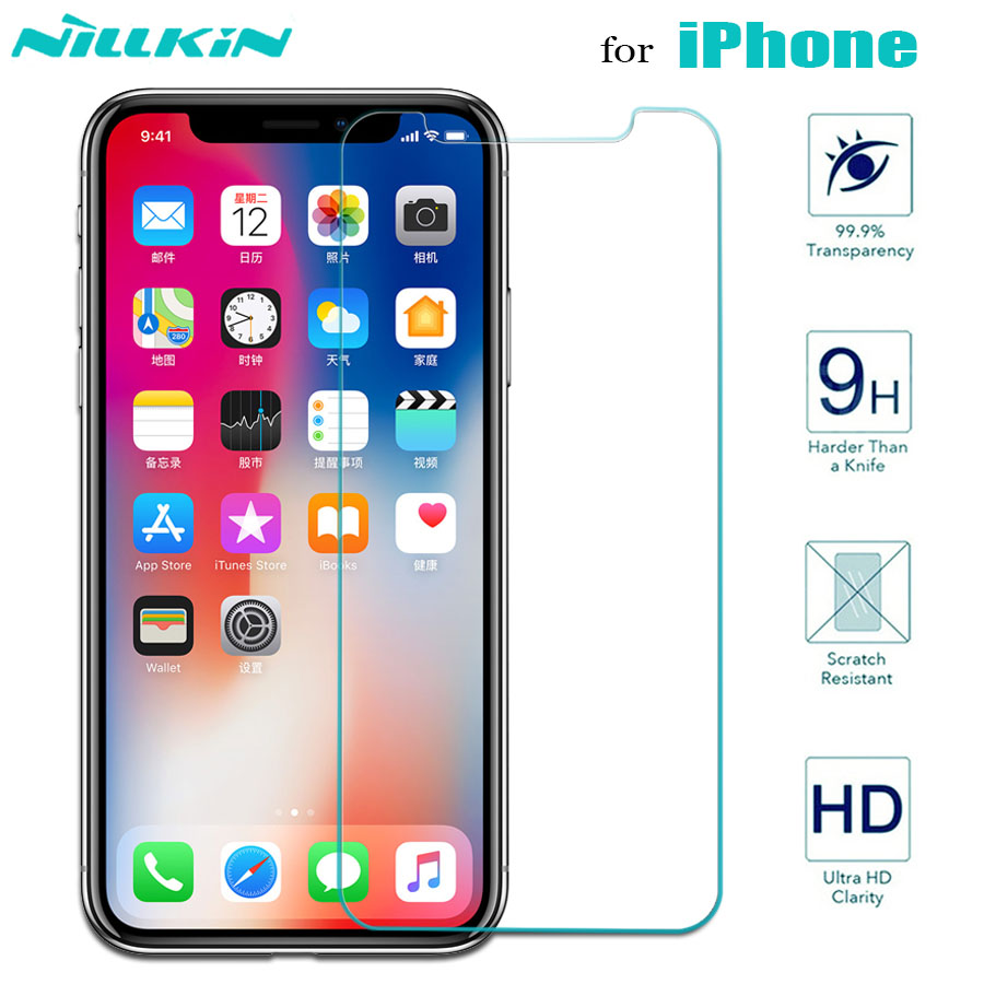 Nillkin For IPhone 11 11 Pro Max X Xr Xs Max Glass Screen Protector 9H Safety Tempered Glass For IPhone 8 7 6s 6 Plus SE 2020