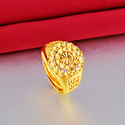 Кольцо вечное не выцветает с золотом 24 карата для женщин и мужчин, ювелирные изделия, кольца из золота 24 карата