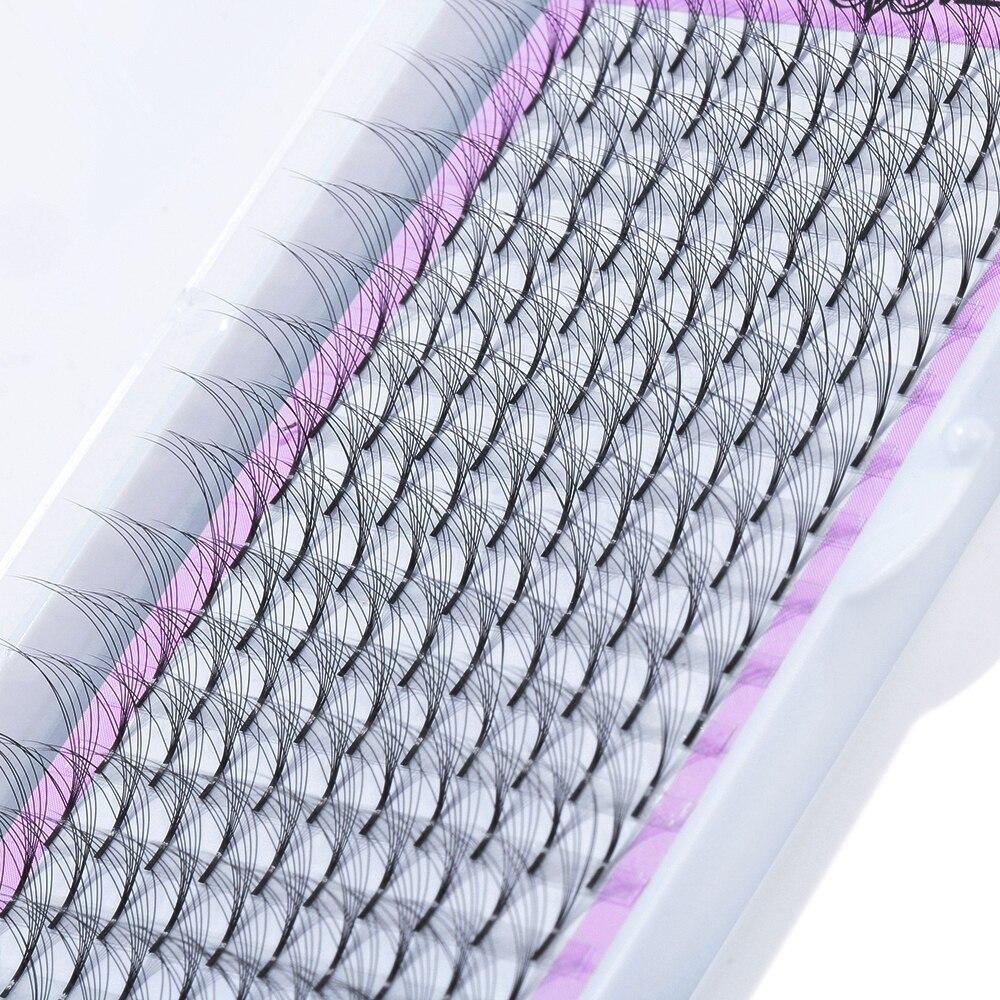 16 рядов смешанные Длина готовых русский объем вентиляторы ресницы 3D ~ 10D стандартной длины из искусственной норки для наращивания ресниц ру...