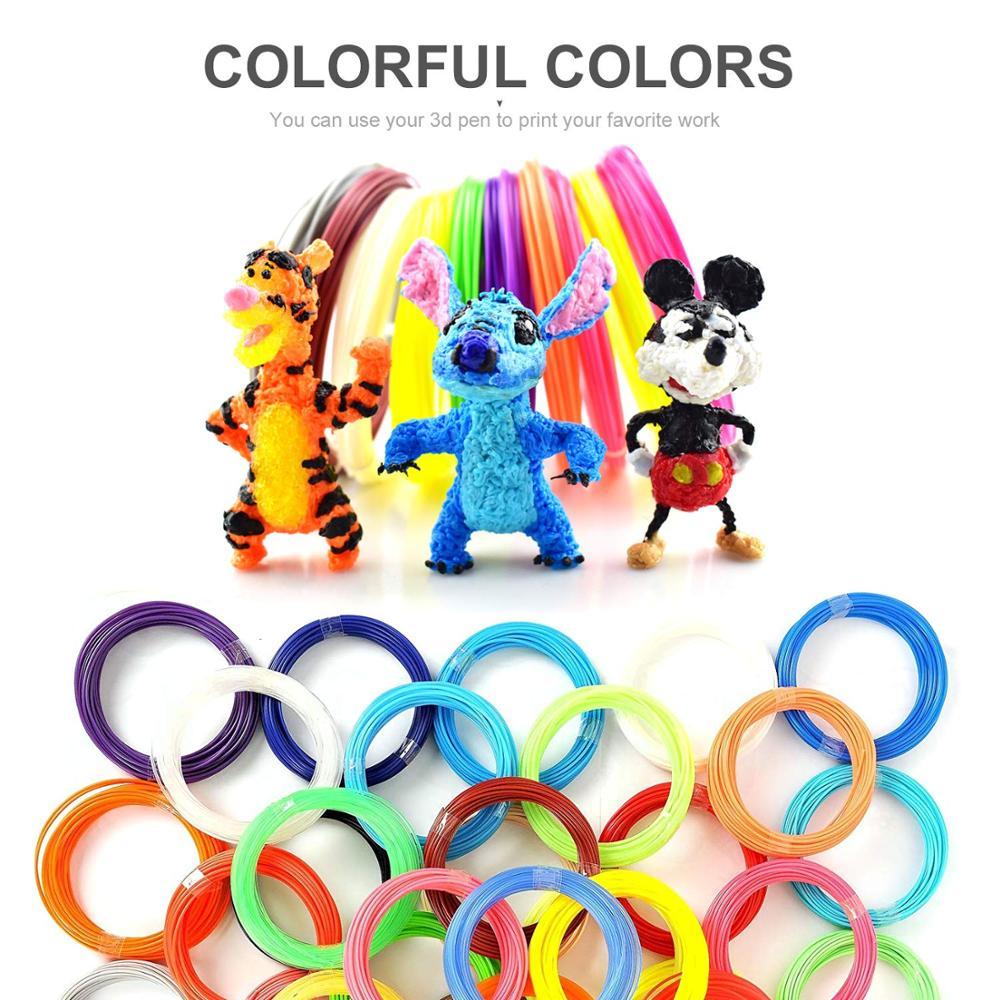 PLA filament 10M color Hot sale for 3D Pen Refill 1 75mm 3D Drawing Material 10