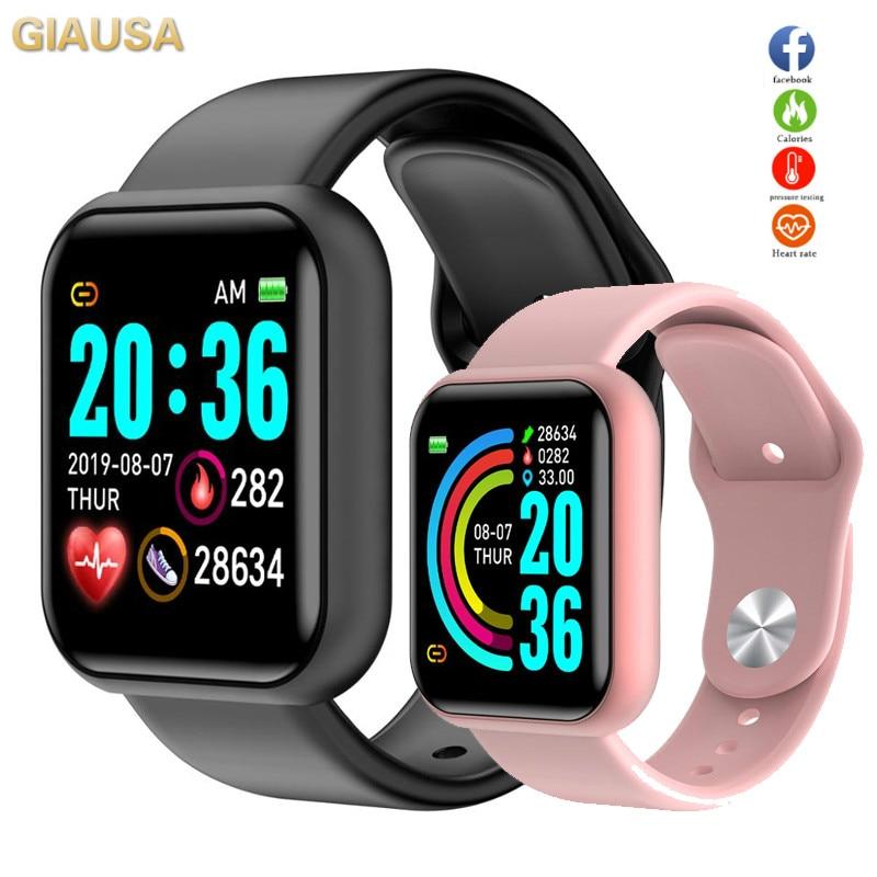 Hembeer Y68 Smart Watch Men Women For Android IOS Phone Waterproof Heart Rate Tracker Blood Pressure Oxygen Sport Smartwatch