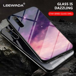 На Алиэкспресс купить чехол для смартфона luxury star series tempered glass phone case for oppo realme 3 5 6 q pro hard cases for oppo realme 6pro anti-fall back cover
