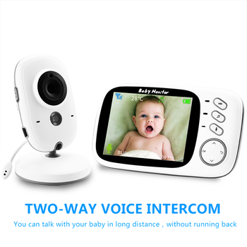 VB603 Baby Monitor Wireless Video Color with 3.2Inches LCD 2 Way Audio Talk Night Vision Surveillance Security Camera Babysitter