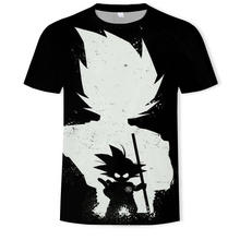 Dragon Ball Ultra Istinto Super Saiyan T-Shirt Da Uomo di Estate di Dragon Ball Z magliette Divertenti Anime Straniero Cose Kid Goku 3d t shirt(China)