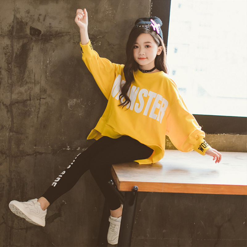 Kids Girls Clothes Sets Long Sleeve Sweater Hoodies + girl leggings  Pants Autumn 3 5 7 8 10 12 Years baby girl clothes 5