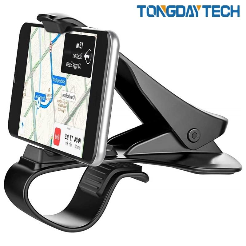 Tongdaytech HUD Car Phone Holder Stand Adjustable Clip Soft Anti Slip 6.5 Inch Mobile Phone Bracket For IPhone Samsung Huawei