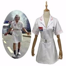 Фильм Бэтмен Dark Knight Joker костюм медсестры для Косплей белая форма медсестры платье Мужчины Женщины Мужчины Хэллоуин фантазии платье