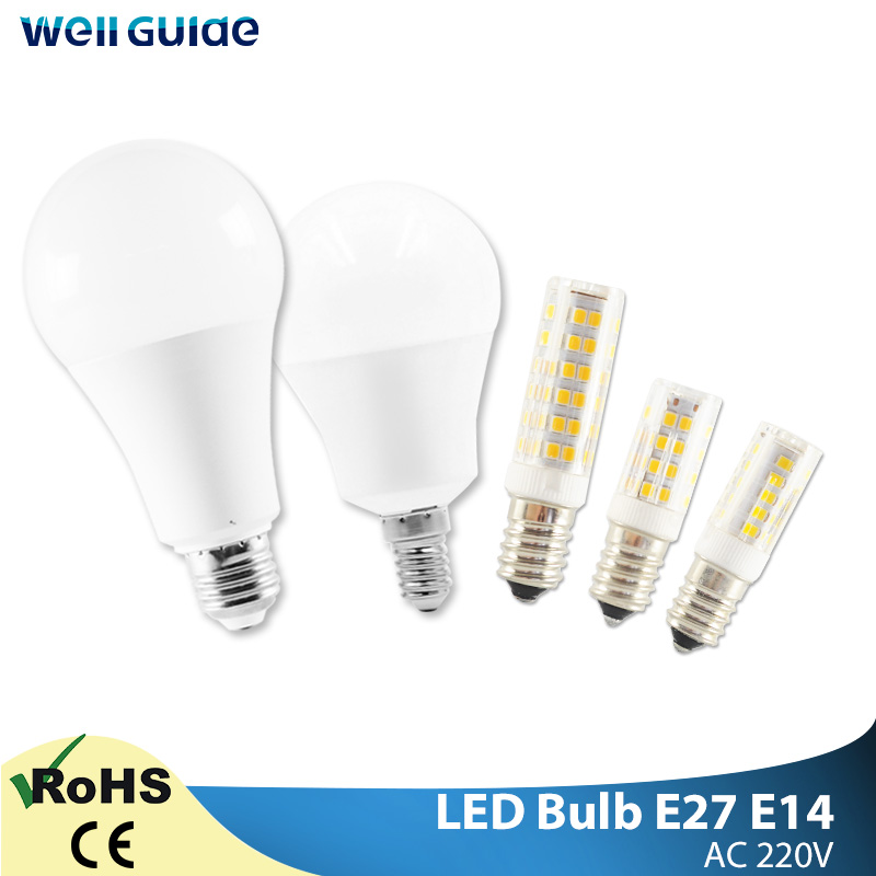 E14 E27 LED Bulb LED Lamps 3W 5W 9W 12W 15W 18W 20W AC 220V 240V Light White Lampara Aluminum Table Lamps Light Bombillas