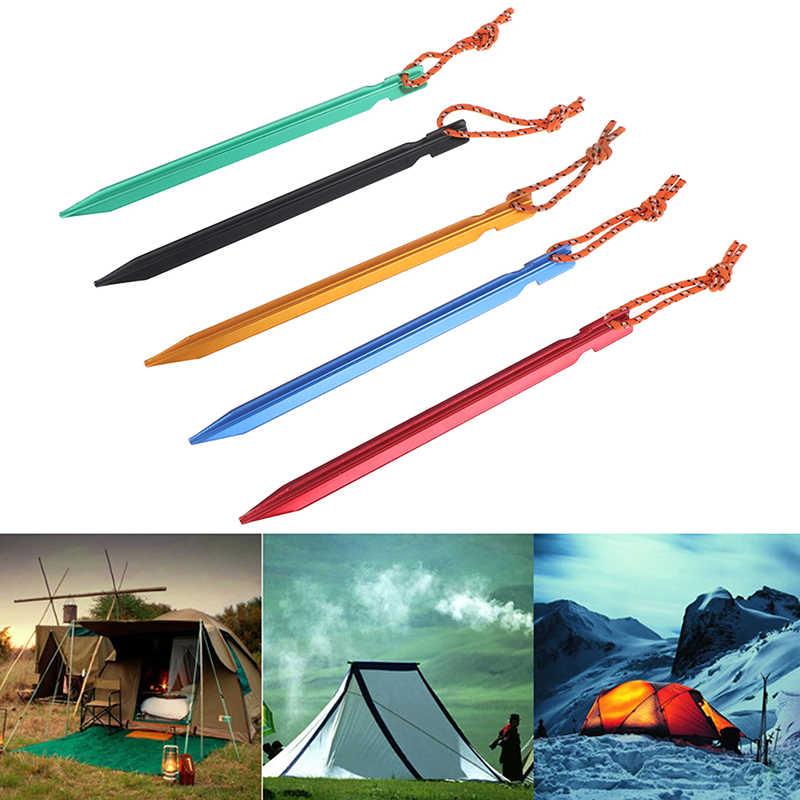 เต็นท์เต็นท์เล็บอลูมิเนียมล้อแม็กกับเชือก Camping อุปกรณ์กลางแจ้งอุปกรณ์ 1pc