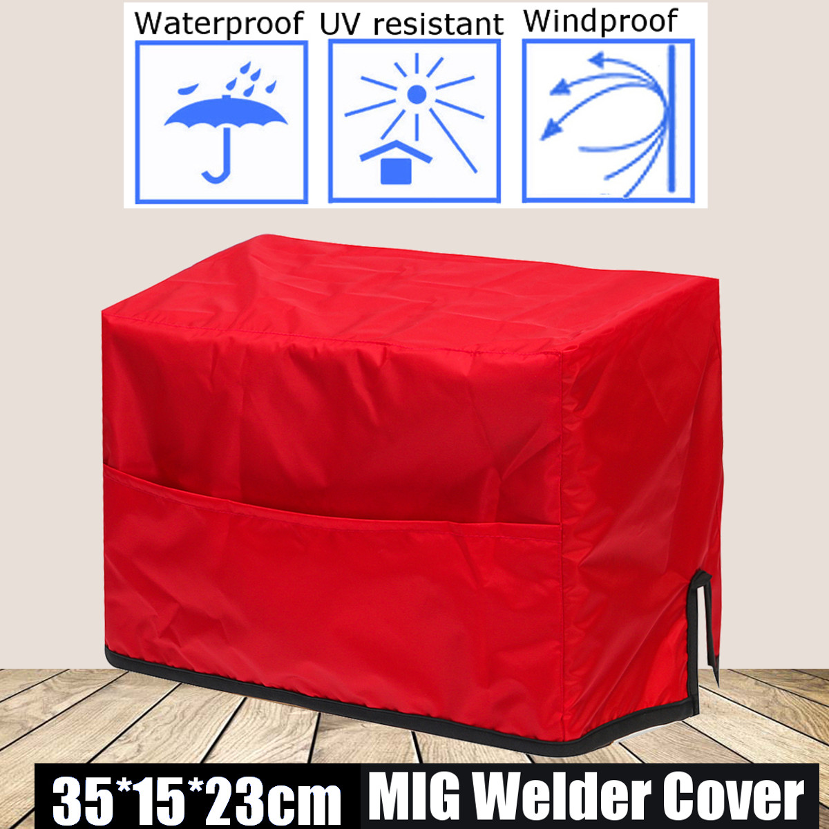 Welder Welding Machine Cover Dustproof Waterproof Protector Cloth For Lincoln MIG Welding Machine 13.8x5.1x9 Inch