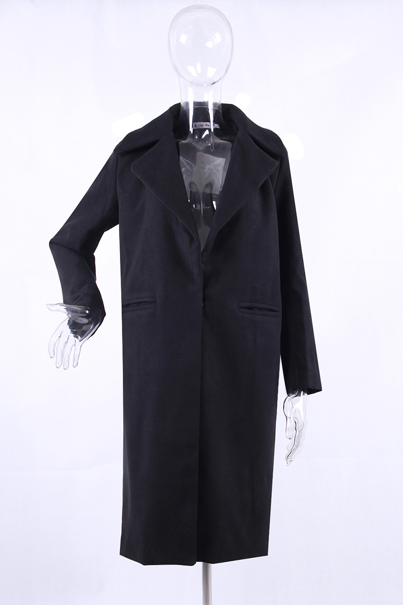 1PC Spring Autumn Women's Wool Coat New Fashion Long Woolen Coat Single Breasted Slim Type Female Autumn Winter Wool Coats 13