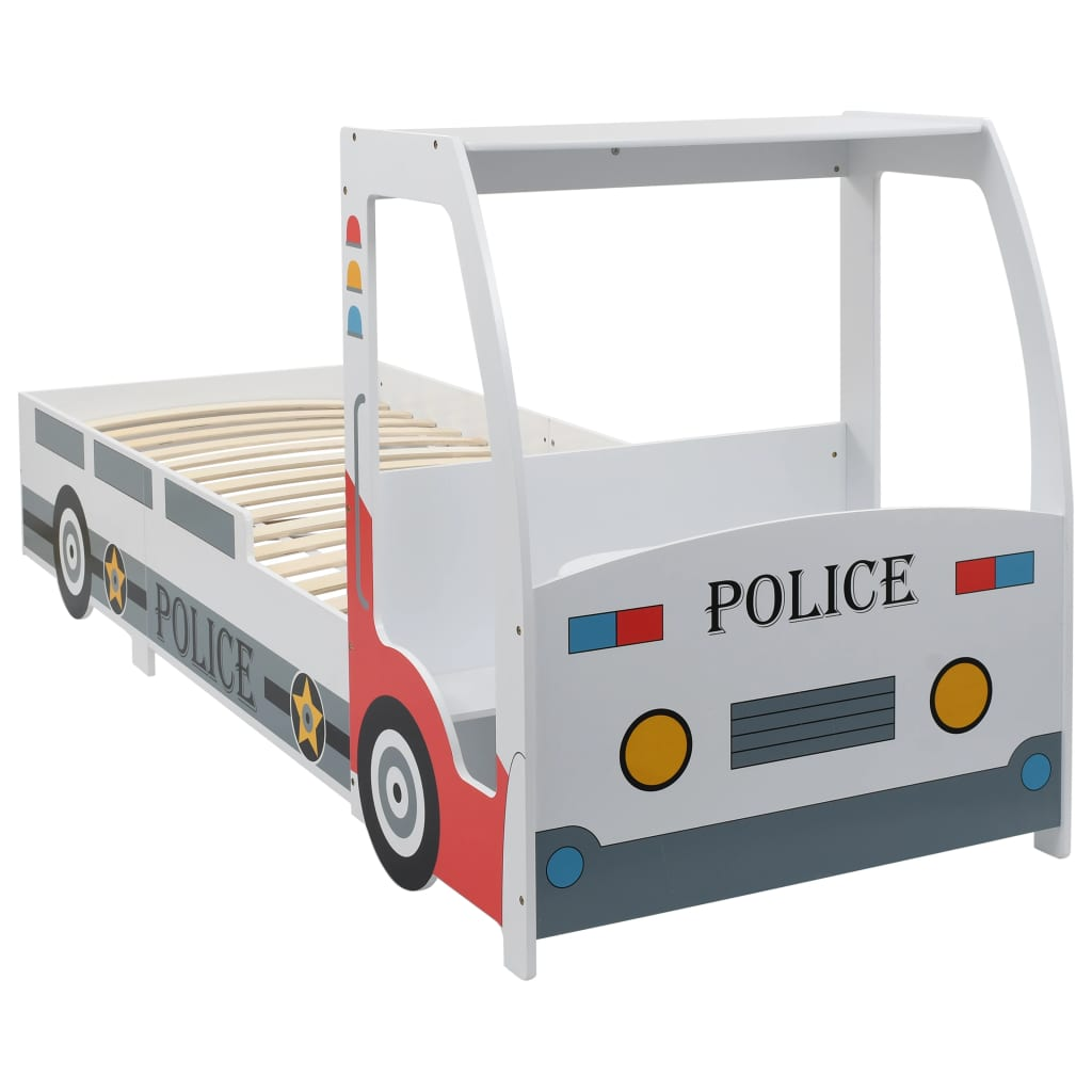 VidaXL Children's Police Car Bed With Desk 90x200 Cm