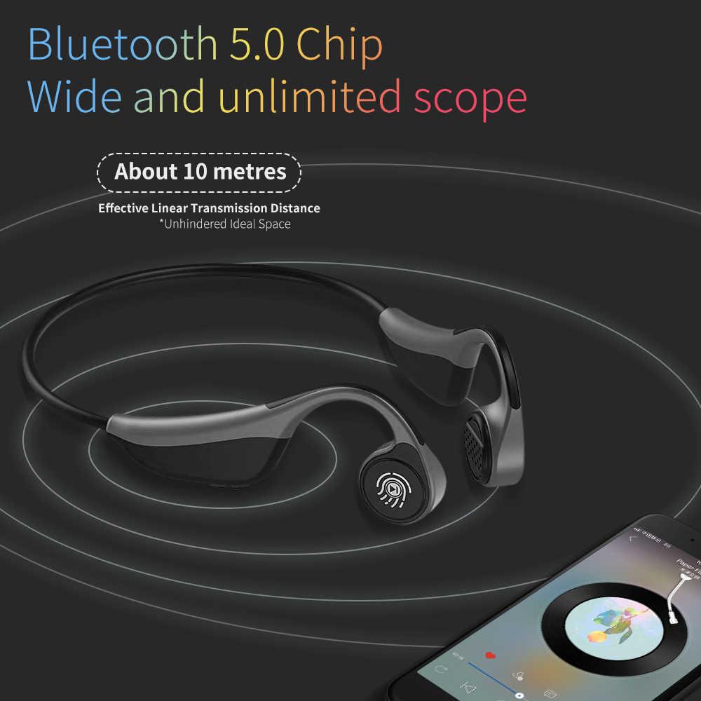 V9 bezprzewodowy/a słuchawki sportowe słuchawki bluetooth przewodnictwa kostnego bezprzewodowe słuchawki z mikrofonem sportowe słuchawki douszne IPX5 wodoodporne słuchawki