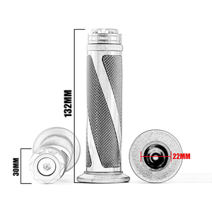 Image 2 - Универсальные ручки для мотоциклов 7/8 дюйма 22 мм, металлические и резиновые ручки для мотоциклов KTM, Honda, Yamaha, Suzuki, Ducati