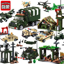 Enlighten Military Vehicle ATGM ww2 Tank children toys blocks building Fighter warplane compatible legoed bricks world war 1 2(China)