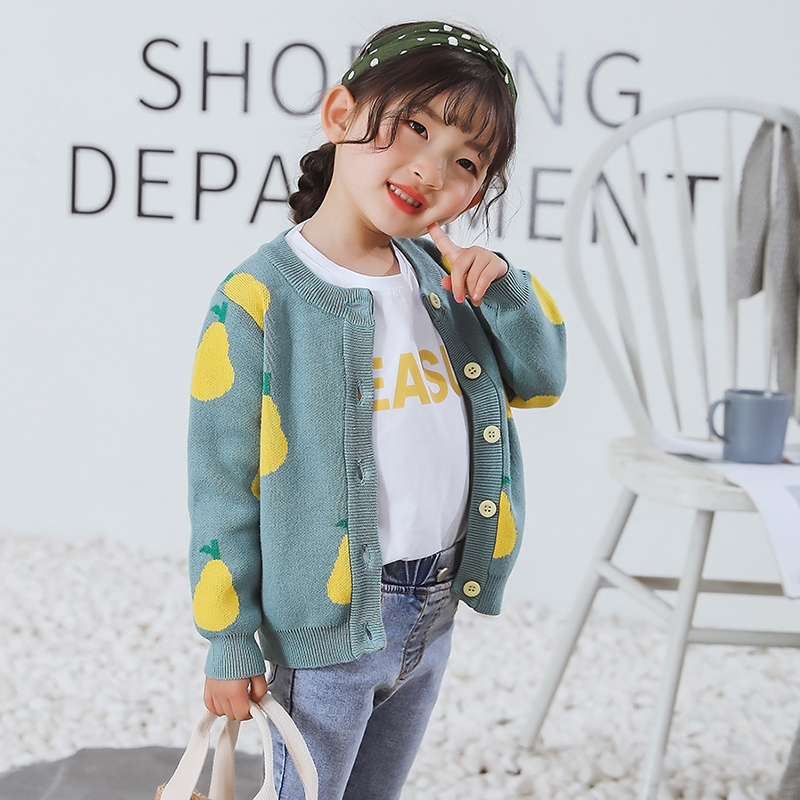 New Girl Cartoon Sweaters Baby Cotton Knit Cardigan Sweater Kids Long Sleeve Autumn Children Clothes Fashion Boy Girl Outer Wear 4