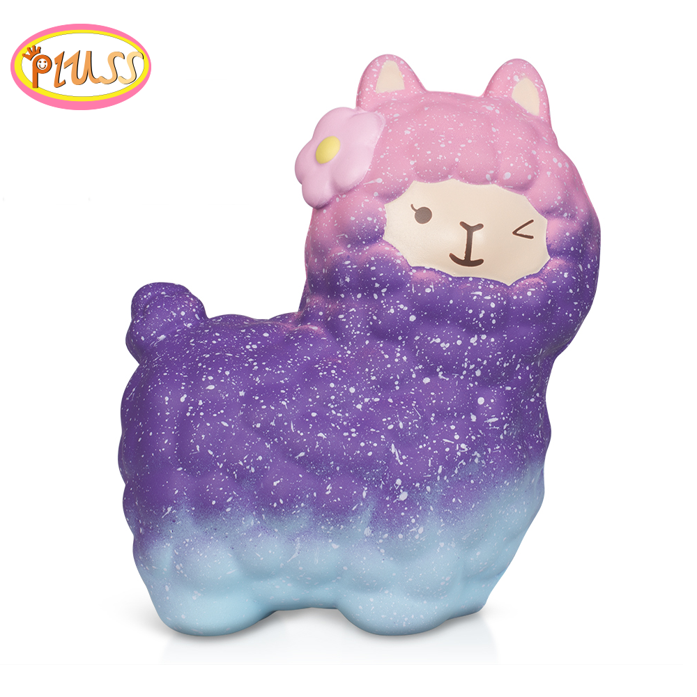 Animal Squishy Soft Alpaca Cute Squishi Sheep Toys Squishies Squeeze Jumbo Slow Rising Anti Strees Toy PU Foam Kids Funny Gifts